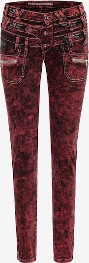 CIPO & BAXX Jeans in de kleur Bourgogne, Productweergave