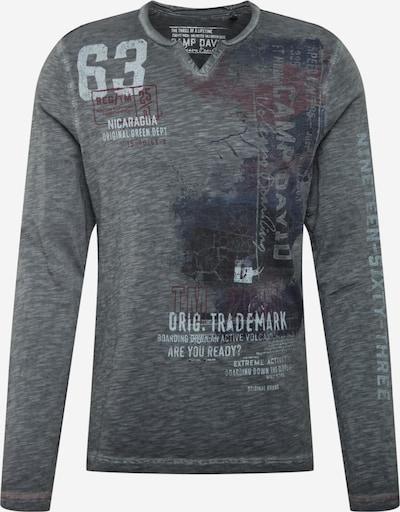 CAMP DAVID Тениска в сиво / светлочервено / черно, Преглед на продукта