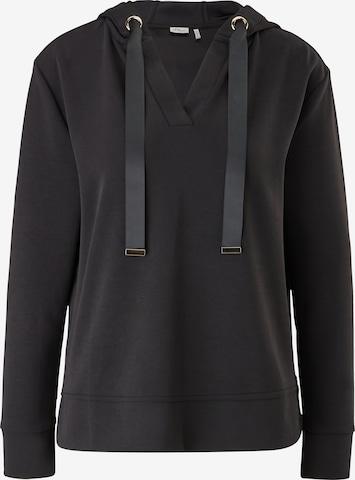 s.Oliver BLACK LABEL Sweatshirt in Schwarz