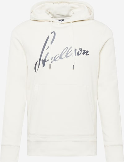 Bluză de molton STRELLSON pe gri / alb, Vizualizare produs