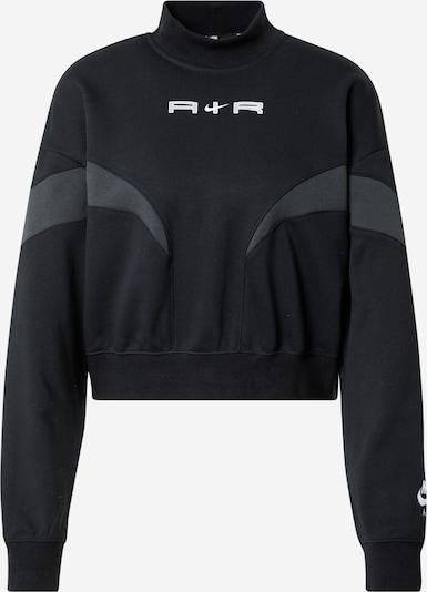 Nike Sportswear Sweat-shirt en gris basalte / noir / blanc, Vue avec produit