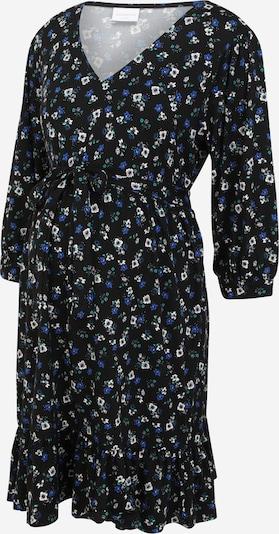 MAMALICIOUS Obleka 'MLKADY' | modra / črna / bela barva: Frontalni pogled