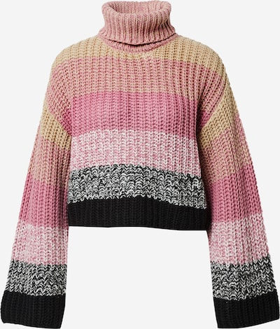 NA-KD Sweater in Grey / Pink / Pastel pink, Item view