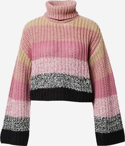 NA-KD Pullover in grau / rosa / pastellpink, Produktansicht