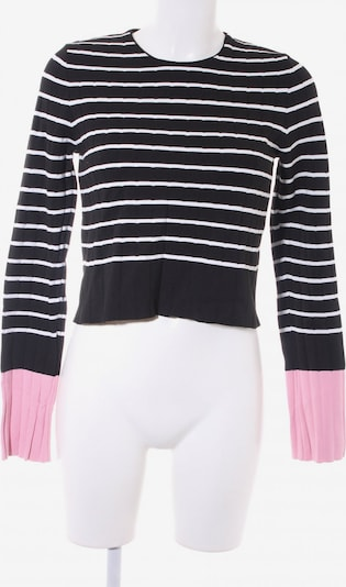 ZARA Sweater & Cardigan in S in Pink / Black / White: Frontal view