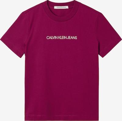 Calvin Klein Jeans Shirt in fuchsia / weiß, Produktansicht