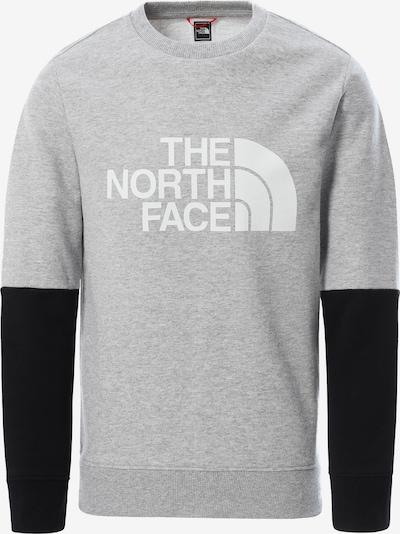 THE NORTH FACE Collegepaita 'Y DREW PEAK LIGHT CREW' värissä vaaleanharmaa / musta / valkoinen, Tuotenäkymä