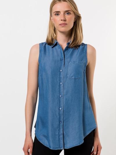 zero Jeansbluse in blue denim, Modelansicht