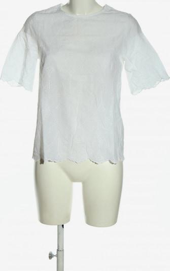 Cortefiel Kurzarm-Bluse in S in weiß, Produktansicht