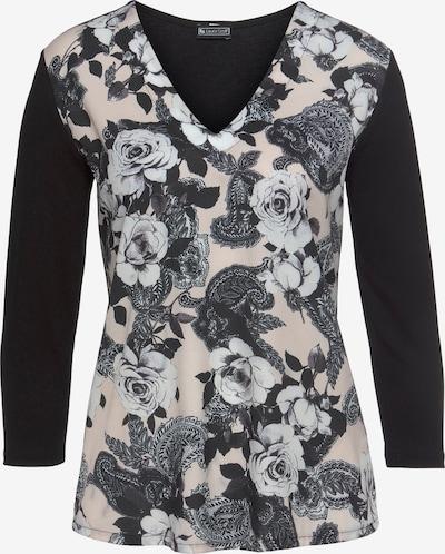 LAURA SCOTT Bluse in creme / grau / schwarz / weiß, Produktansicht
