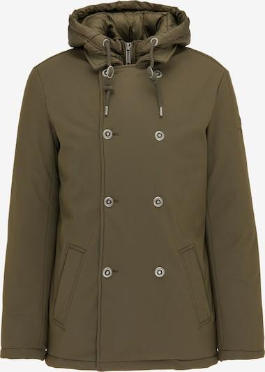 DreiMaster Klassik Winterjas in de kleur Olijfgroen, Productweergave