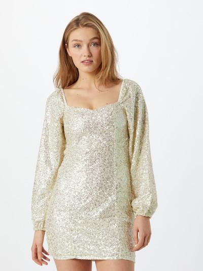 GLAMOROUS Šaty - strieborná / biela, Model/-ka
