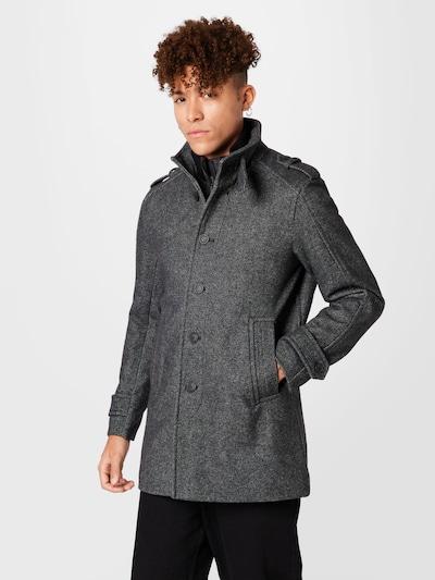Palton de primăvară-toamnă SELECTED HOMME pe gri închis / alb, Vizualizare model