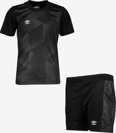 UMBRO Trainingsanzug in schwarz / schwarzmeliert, Produktansicht