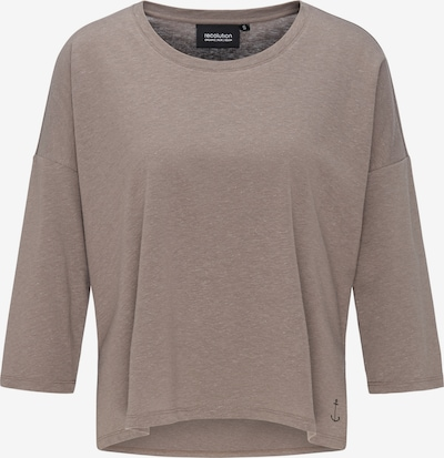 recolution Shirt mit 3/4-Arm Hemp Boxy Longsleeve in braun, Produktansicht