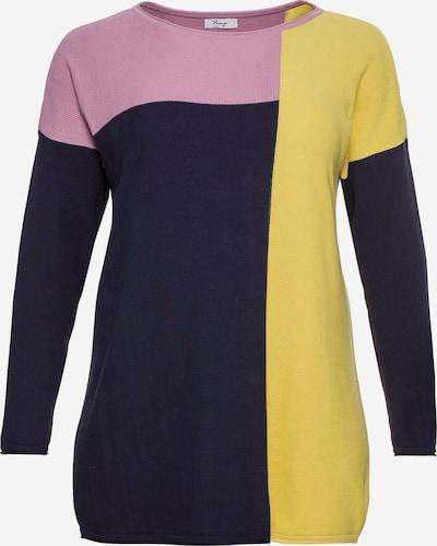 SHEEGO Pullover in gelb / lila / dunkellila, Produktansicht