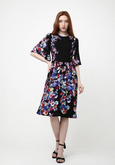Madam-T Sommerkleid 'TEREZIA' in blau / rot / schwarz / weiß, Modelansicht