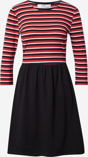 ONLY Jurk 'AMBER' in de kleur Rood / Zwart / Wit, Productweergave