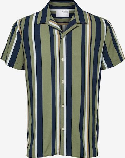 SELECTED HOMME Košile 'Michael' - velbloudí / námořnická modř / zelená / bílá, Produkt