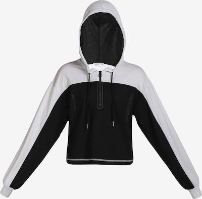myMo ATHLSR Sportsweatshirt in schwarz / weiß, Produktansicht