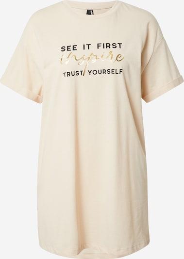 DeFacto T-Shirt in beige / gold / schwarz, Produktansicht