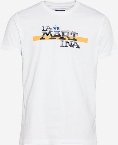 La Martina Majica u narančasta / crna / bijela, Pregled proizvoda