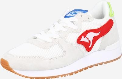 kék / világoszöld / piros / fehér KangaROOS Rövid szárú edzőcipők 'Aussie Velcro', Termék nézet