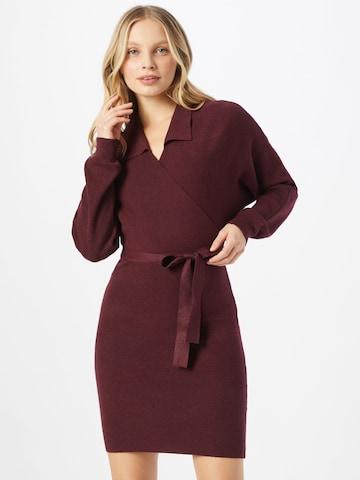 VERO MODA Gebreide jurk 'SUNNA' in Rood