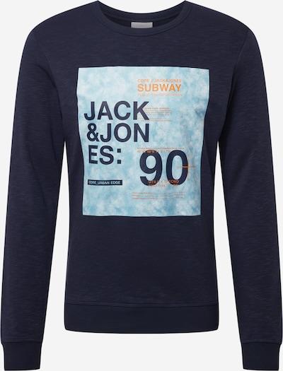 Felpa 'SAX' JACK & JONES di colore navy / blu chiaro / arancione, Visualizzazione prodotti