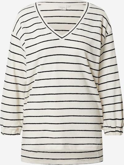 Cream Shirt 'Krystala' in de kleur Zwart / Wit, Productweergave