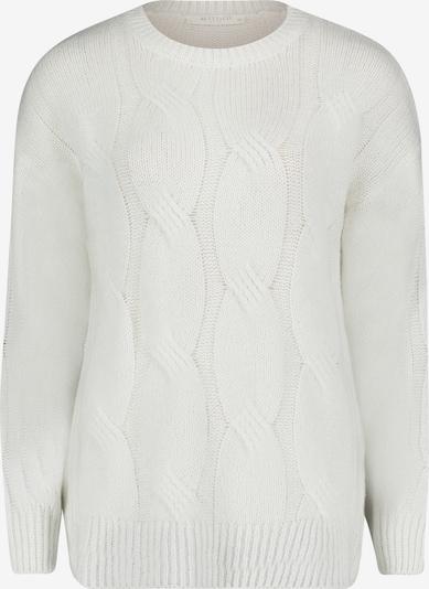 Betty & Co Grobstrick-Pullover mit Rippbündchen in weiß, Produktansicht