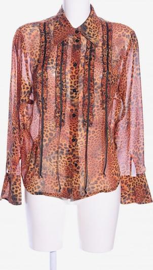 Prestige Elegance Transparenz-Bluse in L in hellorange / schwarz, Produktansicht