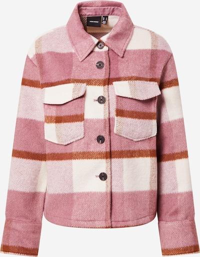 VERO MODA Veste mi-saison 'PERNILLE' en rose / rouge foncé / blanc, Vue avec produit