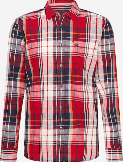 MUSTANG Hemd 'Clemens' in blau / dunkelblau / gelb / rot / weiß, Produktansicht