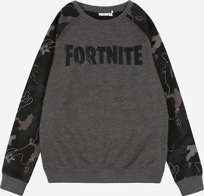 NAME IT Sweatshirt 'Fortnite' in anthrazit / basaltgrau / dunkelgrau / weiß, Produktansicht
