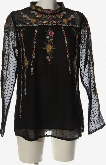 lykkelig Oversized Bluse in XS in khaki / hellorange / schwarz, Produktansicht