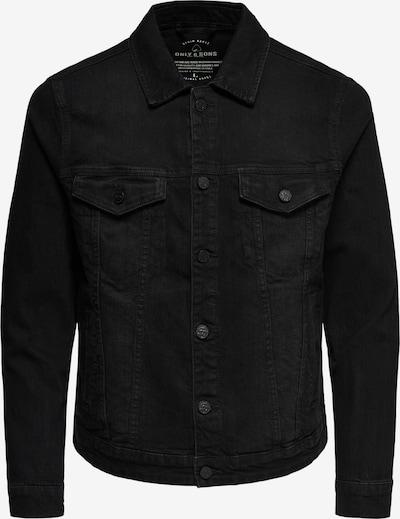 Only & Sons Tussenjas in de kleur Black denim, Productweergave