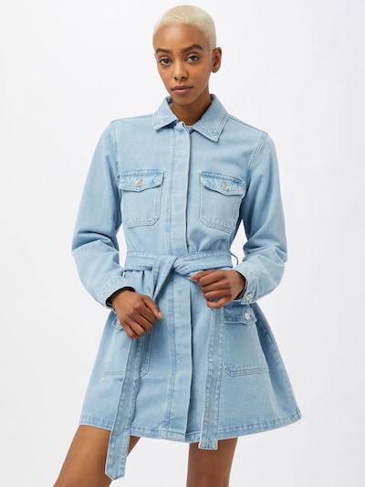 Missguided Košeľové šaty - svetlomodrá, Model/-ka