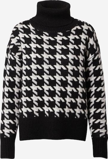MINE TO FIVE Pulover | črna / bela barva, Prikaz izdelka