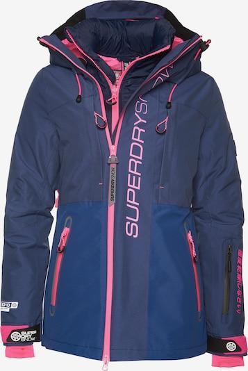 Superdry Skijacke 'Slalom Slice' in blau / pink, Produktansicht