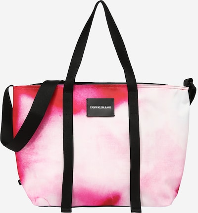 Calvin Klein Jeans Shopper 'MARBLE' i pink / rød / hvid, Produktvisning