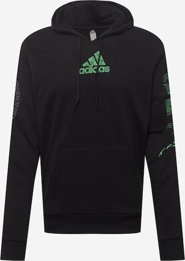 Felpa sportiva ADIDAS PERFORMANCE di colore grigio / verde / nero / bianco: Vista frontale