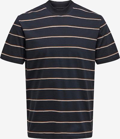Only & Sons Camiseta 'Alan' en azul noche / naranja / blanco, Vista del producto