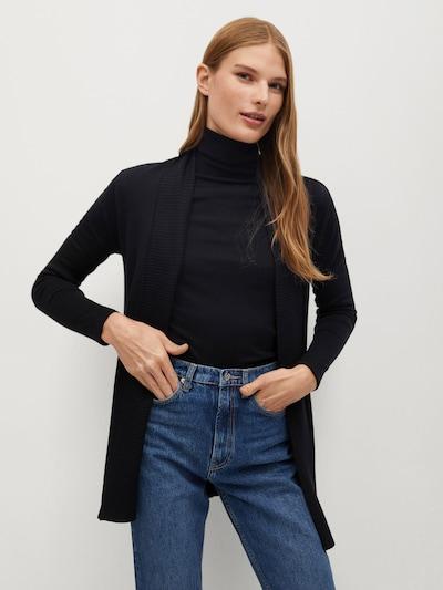MANGO Cardigan 'Almaeco' in schwarz, Modelansicht