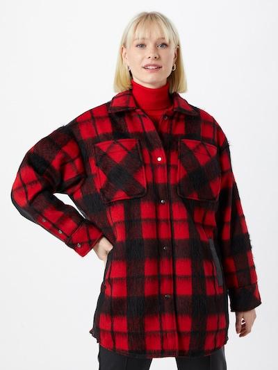 BE EDGY Bluse 'Guinn' in rot / schwarz, Modelansicht