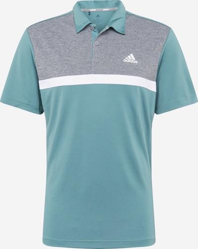 adidas Golf Functioneel shirt in de kleur Grijs / Pastelgroen / Wit, Productweergave