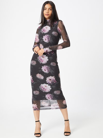 HUGO Šaty 'Neshy' - fialová / černá / bílá, Model/ka