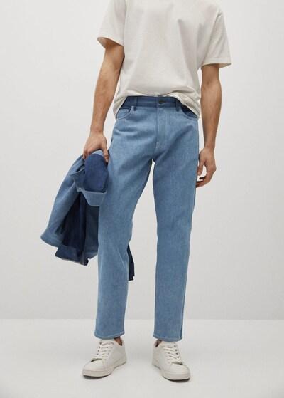MANGO MAN Jeans 'Hutch' in rauchblau / blue denim, Modelansicht