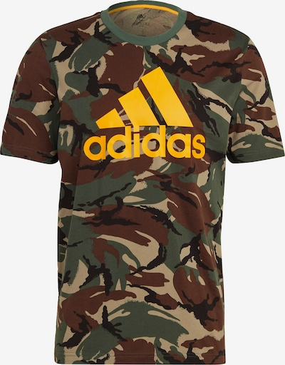 ADIDAS PERFORMANCE T-Shirt fonctionnel en crème / marron / jaune / vert / noir, Vue avec produit