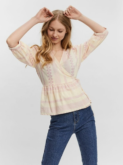 Bluză VERO MODA pe bej / lila, Vizualizare model